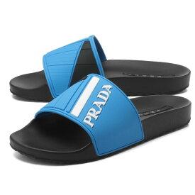 プラダ PRADA シューズ メンズ 4X3204 B4O F0136 サンダル TURCHESE ブルー/ブラック
