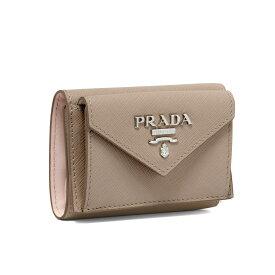 プラダ PRADA 財布 レディース 1MH021 2E6V F0YAS 三つ折り財布 SAFFIANO COLOUR CIPRIA/ORCHIDEA ベージュ