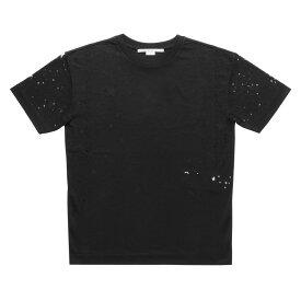 ステラ マッカートニー STELLA McCARTNEY Tシャツ レディース 342365 SJW35 1000 半袖Tシャツ SHEER STAR シアー スター BLACK ブラック