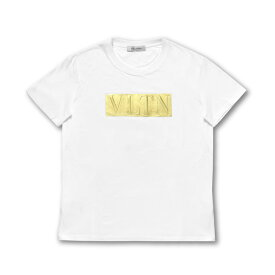 ヴァレンティノ VALENTINO Tシャツ レディース RB3MG00PZSX 0BO 半袖Tシャツ BIANCO/ORO ホワイト