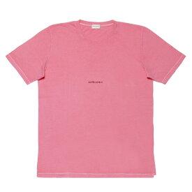 サン ローラン SAINT LAURENT Tシャツ メンズ 557554 YBDV2 6469 半袖Tシャツ PINK ピンク