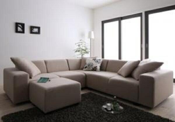 コーナーソファセット ALFRED アルフレッド ソファ&オットマンセット 2P×2+コーナー2人掛けソファ 二人掛けソファ 二人掛け 二人 2人用 ソファ カウチソファ 北欧 カントリー ナチュラル シンプル リビング 木製 北欧デザイン 北欧家具 sofa ソファー