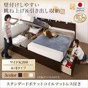 日本製ベッド 国産ベッド 日本製 コンセント付国産ファミリー収納ベッド Kirchen キルヒェン スタンダードポケットコ…