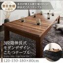 3段階伸長式モダンデザインこたつテーブル Abroader アブローダー 長方形(80×120〜180cm)こたつテーブル こたつテー…