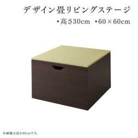 日本製 収納付きデザイン畳リビングステージ そよ風 そよかぜ 畳ボックス収納 60×60cm ロータイプ和モダン 和室収納 リビング和室 上がり和室 リフォーム リノベーション アイテム