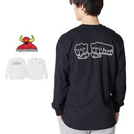 【クーポン利用で20%OFF】TOY MACHINE トイマシーン 長袖Tシャツ メンズ レディース Tシャツ 長袖 ロングTシャツ ロンT ロンティー ロゴ プリント カットソー ホワイト ブラック 白 黒 スケーター ブランド ストリート系 ストリートファッション メンズファッション