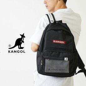 送料無料 KANGOL カンゴール リュック メンズ レディース バックパック デイパック リュックサック ポーチ付き バッグ バック かばん カバン 鞄 ブランド ロゴ ブラック 黒 韓国ファッション ストリート系 メンズファッション