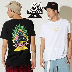 JUNGLES × #FR2 ジャングルズ Tシャツ メンズ レディース 半袖 ブランド ロゴ バックプリント クルーネック カットソー 半袖Tシャツ ホワイト ブラック FR2 エフアールツー ジャングルス ストリート系 メンズファッション