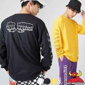 【送料無料】TOY MACHINE トイマシーン Tシャツ メンズ レディース 長袖Tシャツ ロングTシャツ ロンT ブランド ロンティー ロゴT プリントT バックプリント プリント 袖プリント ストリートファッション 韓国ファッション