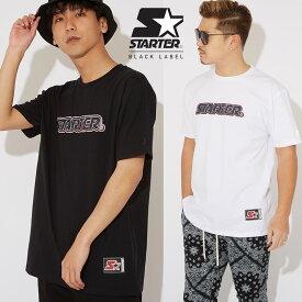 【送料無料】 STARTER BLACK LABEL スターターブラックレーベル Tシャツ メンズ レディース 半袖Tシャツ クルーネック ロゴT クラック プリントTシャツ ゆったり 大きいサイズ カットソー白 黒 ブランド アメカジ ストリート系 ストリートファッション