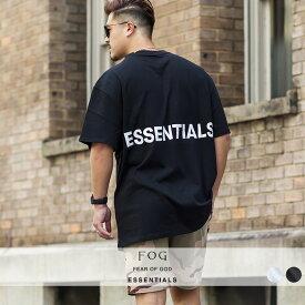 【送料無料】 FEAR OF GOD ESSENTIAL FOG エフオージーエッセンシャルズ Tシャツ メンズ レディース 半袖 ビッグシルエット オーバーサイズ 大きいサイズ ビッグTシャツ クルーネック ロゴT プリントTシャツ 厚手 白 黒 ブランド ストリート系 ストリートファッション