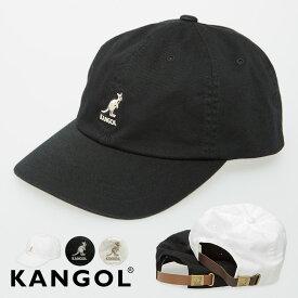 【送料無料】 KANGOL カンゴール キャップ メンズ レディース ベースボールキャップ ストラップバックキャップ ロゴ 刺繍 帽子 CAP 黒 白 ブラック ホワイト ブランド シンプル カジュアル ストリートファッション