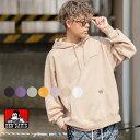 【送料無料】 BEN DAVIS ベンデイビス パーカー メンズ レディース 長袖 刺繍 ワンポイント ゆったり 大きいサイズ ビ…