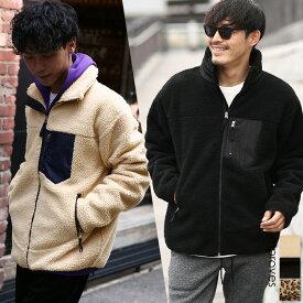 送料無料 ボア ジャケット ブルゾン メンズ レディース もこもこ あったか 暖かい 無地 レオパード柄 ヒョウ柄 スタンドカラー ハイネック ボアジャケット ボアブルゾン フリースジャケット 黒 アウトドア ストリート系 ストリートファッション 韓国ファッション improves