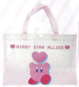星のカービィ/マチ付レッスンバッグ/ピンク(K-2186A)/ビニールバッグ/プールバッグ(mail 180)