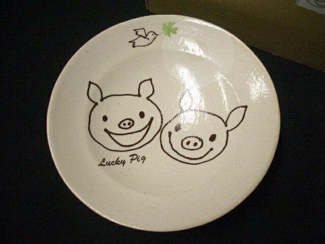 ラッキーピッグ5千円以上送料無料!ラッキーピッグ/粉引深鉢(77710-1)LUCKY PIG★(takuhai)