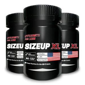 【送料無料】SIZE UP XL(サイズ・アップ・エックスエル) 3本【増大サプリ 増大 男性 シトルリン アルギニン 赤ガウクルア トンカットアリ】