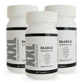 DIABLO(ディアブロ) 自信増大サプリ 3本+1本プレゼント α-GPC シトルリン 亜鉛 マカ ムイラプアマ 送料無料