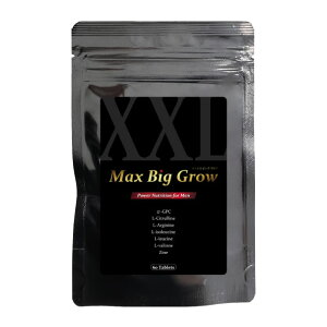 MAX BIG GROW 男性自信増大サプリ 単品 定期便 送料無料 α-GPC シトルリン 亜鉛 マカ アルギニン BCAA