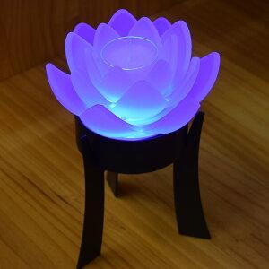 創作盆提灯とうろう清蓮華モダン提灯LED燈篭盆ちょうちんロウソク台きれいインテリア