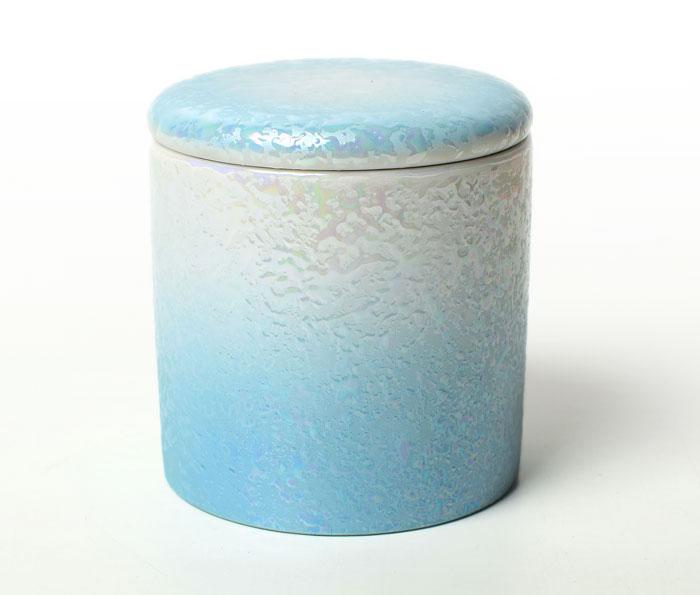 骨壷 分骨 手元供養 2寸 やわらぎ ラスターブルー 送料無料 シリコンパッキン 付 骨壺 ミニ骨壷 ペット骨壷 あす楽