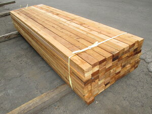 米杉(ベイスギ)ウエスタンレッドシダー デッキ材【多少難ありB級品】 2430×38×89ミリ(8F 2×4材)