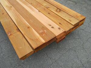 米杉(ベイスギ)ウエスタンレッドシダー デッキ材【多少難ありB級品】 4260×38×140ミリ(14F 2×6材)