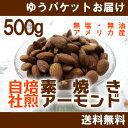 【期間限定!ナッツフェア】素焼き アーモンド500g(250gx2個入り)【無塩・無油】【送料無料】