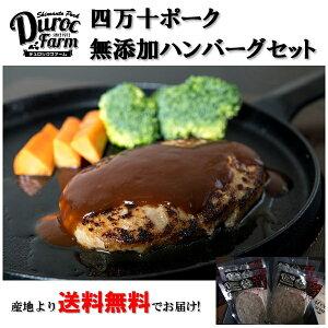お中元 御中元 お肉 ギフト 詰め合わせ 送料無料 デュロックファーム 四万十ポーク使用 無添加ハンバーグセット