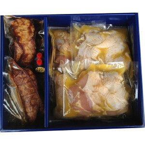 送料無料 焼き豚P 焼豚・骨付き鶏若鶏セット お肉 ギフト 詰め合わせ