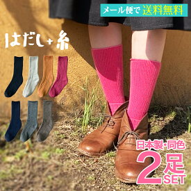 【送料無料】レディース 無地 サーモスパイル 同色2足セット サイズ22-24cm 日本製靴下 くつ下 敬老の日 誕生日 母の日 プレゼント あったか 落ち着く 部屋着 リラックス