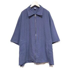 【セール 40%OFF SALE】 【大きく弧を描く肩の落ち感が美しいシルエット】Iroquois イロコイ テンセルモールスキンガーメントダイジップシャツ purple Iroquois381111