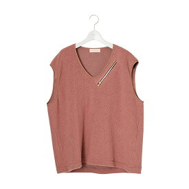 【ネオンサイン ベスト】NEON SIGN ネオンサイン / S140's Fleece Vest (PNK) [NEONSIGN-1150]