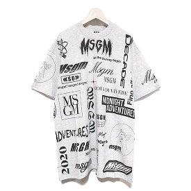 【国内正規品】 【MSGM Tシャツ】MSGM エムエスジーエム logo mania T shirt gray MSGM-2840MM101