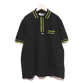 【国内正規品】 【MSGM ポロシャツ】MSGM エムエスジーエム Line polo shirt black MSGM-2840MM191