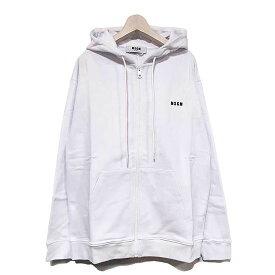 【国内正規品】 【MSGM パーカー】MSGM エムエスジーエム micro logo zip up hoodie white MSGM-2840MM87