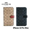 iPhone 12 Pro Max ケース Coach コーチ Folio Case 手帳型