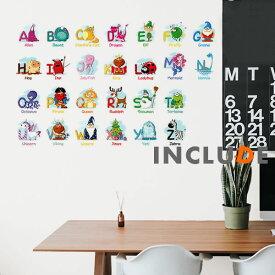 ウォールステッカー 英語 ローマ字 キュート アルファベット アニメで学ぶ 楽しく勉強 英語が上達 教育 エデュケーション エデュ 漫画 A-Z ABCDEFG HIJKLMN OPQRSTU VWXYZ ABC EchoSong デザイナーズ インテリア 子供部屋 壁修復 壁紙