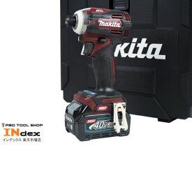 最新商品!【新品未使用】マキタ 充電式インパクトドライバ TD001GDXAR オーセンティックレッド 40V 2.5Ah 40Vmax XGT スマートシステム TD001GRDX 新製品 セール 特価