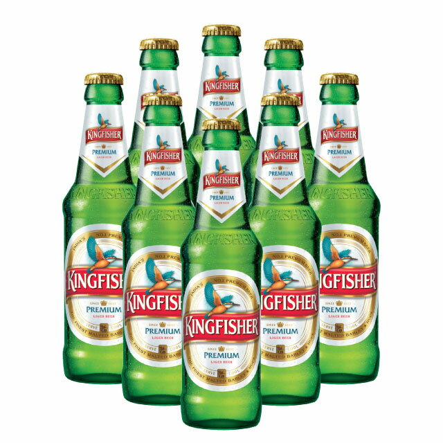 【KINGFISHER PREMIUM BEER】キングフィッシャープレミアム ビール8本セット330ML Alc4.8%
