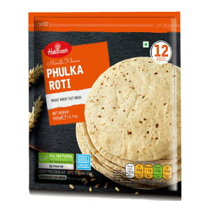 【クール便配送】【PHULKA ROTI 360g】【HALDIRAM】 プルカ ロティ 【チャパティ】 パン 全粒粉パン 全粒粉 インドの食品 インドのパン ハルディラム 12枚入り 360g インド パン 輸入食材 輸入食品 輸