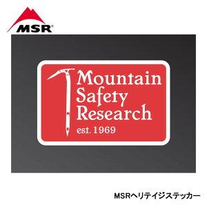 【MSR/エムエスアール】 MSRヘリテイジステッカー 品番:36905