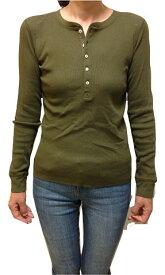 【並行輸入品】[ポロラルフローレン]ガールズ L-XL(14-16) GIRLS 長袖ヘンリーネックTシャツ 313506094 D.GREEN カーキ(レディース対応)【RALPH LAUREN】(あす楽)