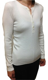 【並行輸入品】[ポロラルフローレン] ガールズ L-XL(14-16) GIRLS 長袖ヘンリーネックTシャツ 313506094 CREAM クリーム 白(レディース対応) 【RALPH LAUREN】(あす楽)