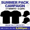 2019 SUMMER PACK【2T-SHIRTS&2CAPS】(S・M・L・XL・2XL)(通販 メンズ 大きいサイズ Tシャツ 半袖 ショートスリーブ …