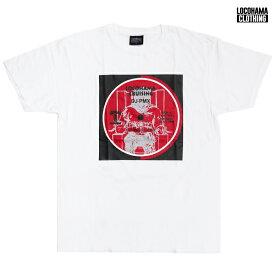 【送料無料】【MIX CDプレゼント】LOCOHAMA CLOTHING PRINT Tシャツ【WHITE】(M・L・XL)(通販 メンズ 大きいサイズ Tシャツ 半袖 プリント ショートスリーブ ホワイト 横浜 DJ PMX)