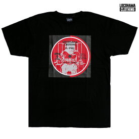 【送料無料】【MIX CDプレゼント】LOCOHAMA CLOTHING PRINT Tシャツ【BLACK】(M・L・XL)(通販 メンズ 大きいサイズ Tシャツ 半袖 プリント ショートスリーブ ホワイト 横浜 DJ PMX)