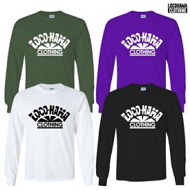 【受注アイテム】【送料無料】LOCOHAMA CLOTHING L/S T-SHIRTS【WHITE/BLACK/OLIVE/PURPLE】(M・L・XL・2XL)(通販 メンズ 大きいサイズ Tシャツ ロンT プリント ロングスリーブ ロゴ ロコハマ 横浜 DJ PMX)