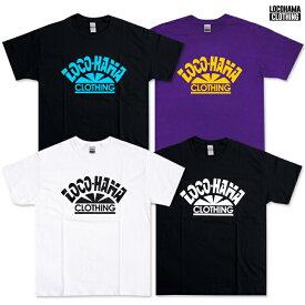 【送料無料】LOCOHAMA CLOTHING PRINT T-SHIRTS【WHITE/BLACK/PURPLE】(M・L・XL・2XL)(通販 メンズ 大きいサイズ HIP HOP ヒップホップ Tシャツ プリント ウエッサイ ロゴ ロコハマ 横浜 DJ PMX)