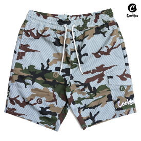 【SPECIAL PRICE】【送料無料】COOKIES SF VINTAGE CAMO SEERSUCKER BOARD SHORTS【CAMOUFLAGE】(M・L・XL)(COOKIES SF 通販 メンズ 大きいサイズ ショーツ ボードショーツ スイム 迷彩 カモフラージュ)
